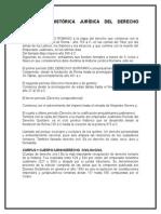 Evolución Histórica Jurídica Del Derecho Romano