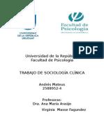 Universidad de La República Trabajo Sociologia Clinica 1