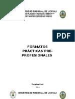 FORMATOS PRÁCTICAS PREPROFESIONALES