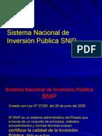 SNIP y Preinversion