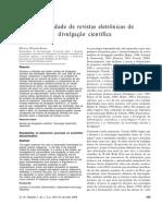2003 - Legibilidade de Revistas Electronicas de Divulgacao Científica