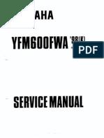 Yfmgoofwa '97(k) Service Manual 01997 by Yamaha