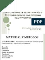 Validez y Confiabilidad de instrumentos de investigación