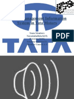 Role of Management Information System in Tata Motors