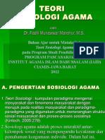Teori Sosiologi Agama