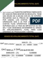 Grado de Apalancamiento Total (Gat) y Administración de Efectivo