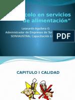 Protocolo en Servicios de Alimentación Presetacion