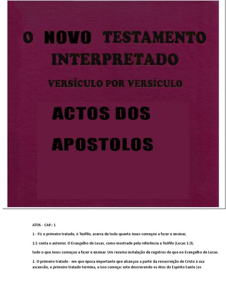 22b197725a Bíblia Comentada - Versículo Por Versículo  Atos Dos Apóstolos