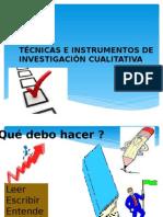 Tecnicas e Instrumentos de Inv Cualitativa