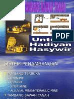 underground mining system