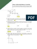 Lista 1 - Eletrodinâmica - 1ª Lei Ohm