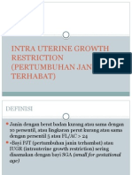 Intra Uterine Growth Restriction ppt