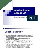 Introduction Au Langage C#
