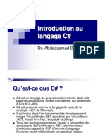 Introduction Au Langage C#