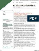 BELajaR EkonOMetRiKa_ Diskusi_ Standardized Variables vs Unstandardized Variables