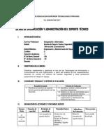 Silabo Modular Organizacion Del Soporte Tecnico 2014-i