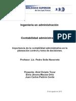 importancia de la contabilidad administrativa