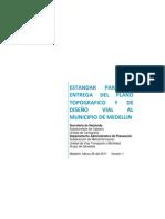 Estándar Para La Entrega de Planos Topográficos y Diseño Vial