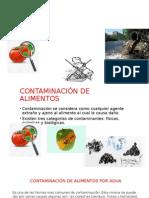 Contaminación de Alimentos Por Agua