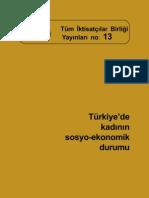 türkiye'de kadının sosyo-ekonomik durumu
