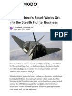 How Lockheed's Skunk Works Got Into the Stealth Fighter Business