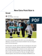 The NFL's New Extra Point Rule is Great