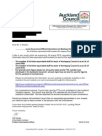 Auckland Council response on staff numbers