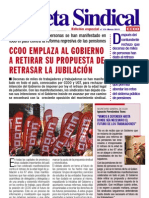 13. Gaceta Sindical especial tras movilizaciones no a la jubilación 67 años