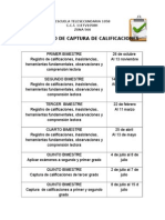 Calendario de Captura educación básica 2015-2016