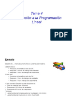 Program Ac i on Lineal