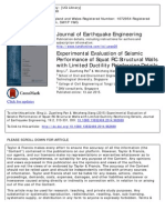 Journal Experimental Evaluation of Seismic Performance..