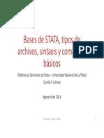 Stata, tipos de archivos, sintaxis y comandos bàsicos