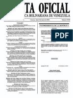 Sumario Gaceta Oficial 39.381
