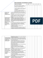 Matriz de objetivM,os Ciencias 7°