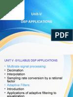 Unit-V DSP