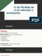 Calculo de Perdida de Presión en Válvulas-Accesorios