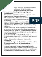 prospecto 2016BBiología Definición de Biología