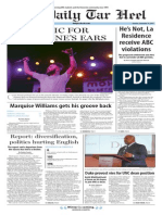 The Daily Tar Heel for Sept. 14, 2015
