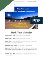Ridgefield Arena Aug:Sept 2015 Newsletter