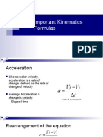 kinematics formulas