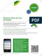 Elsevier Research Where You Are Go Mobile