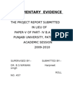 Documentry Evidence (evidence act) Project work