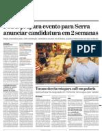 PSDB prepara evento para lançar Serra