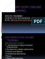 Sap Abap Oops ONLINE TRAINING IN USA