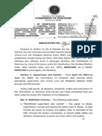 comelec resolution 9586