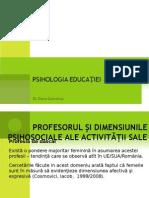 Curs 12 Profesorul Si Dimensiunile Psihosociale Ale Activitatii Sale
