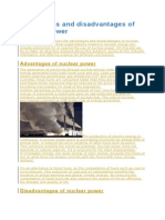 Advantages and Disadvantages of Nuclear Power Zea