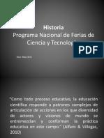 Historia Ferias Nacional de Ciencia y Tecnología