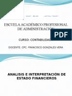 Contabilidad i - Sesion 14 y 15 - Analisis e Interpretacion de Estados Financieros