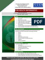 UP-PGH Seminar on Health Informatics